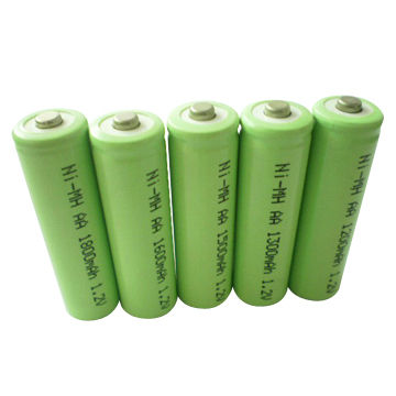 Ni-MH AA 1800mAh battery with 1.2V Voltage and 15C Discharge Current