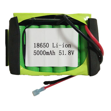 51.8V 5,000mAh Li-ion battery pack , assembled by 18650 Samsung Cell